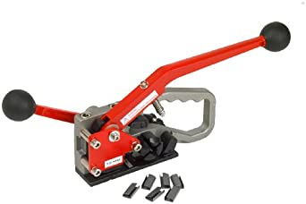 "PAC Strapping PAC400HD Heavy Duty Plastic Strapping Manual Combination Tool for 1/2"" Width Strap"