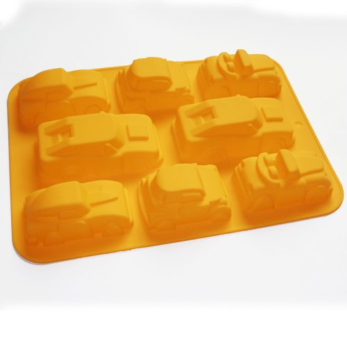 X-Haibei 3d Cars Cake Chocolate Soap Candle Muffin Cupcake Pan Bakeware Silicone Mold