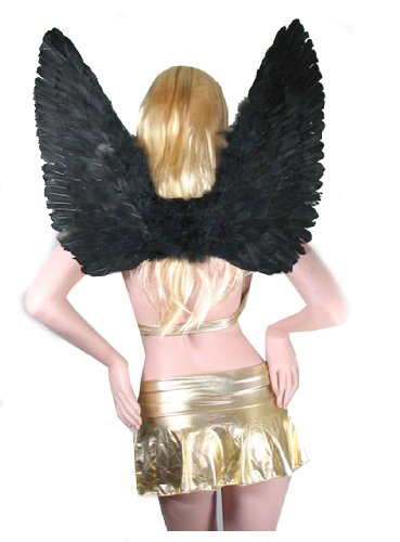 SACAS Large Black Feather Angel Wings for adults, women and men