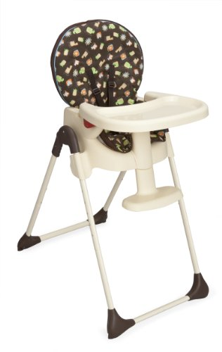 Delta Children Foldable High Chair, Koo Koo Zoo - 1