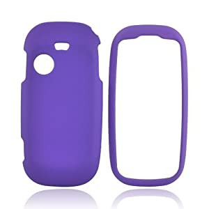 T369 Case, [Purple] Slim Grip Rubberized Hard Plastic Case for Samsung T369 (2010)