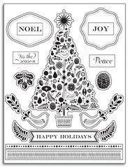 Martha Stewart Clear Christmas Tree Stamps
