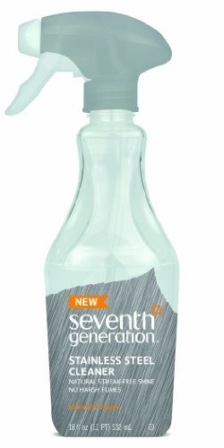 Seventh Generation Stainless Steel Cleaner, 18 Fluid Ounce by Seventh Generation