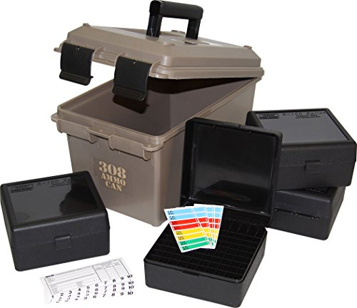 Lowest Price! MTM ACC308 308-Caliber Ammo Can with 4 RM-100 Boxes, Dark Earth