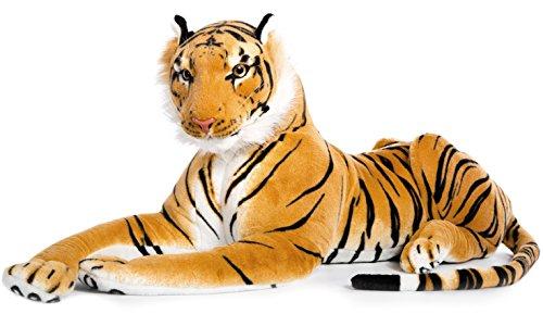 Plüschtier Tiger - liegend - braun - 60 cm