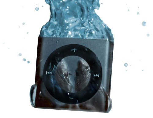 100% Waterproof Apple Ipod Shuffle - Waterproofed By Underwater Audio For Swimming, Surfing And Dancing In The Rain ***Discounted Headphone Promotion Available - Select Color To See Details Below*** (Gray)