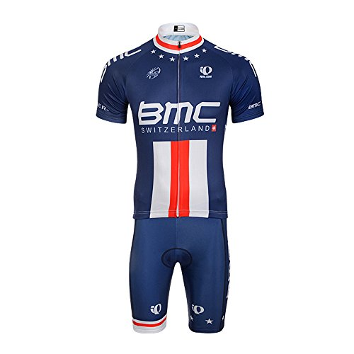 BMC Men Pro Team Cycling Jersey and Bib Shorts Padded Cycling Clothing  Breathable Quick Dry XL cf21fe83c