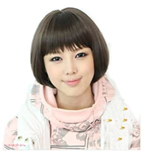 fashion BOB style Straight BLACK short Straight hair wigs with cap jf010292