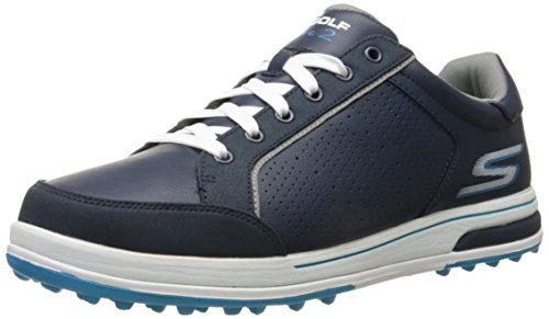 2016-skechers-go-golf-drive-2-leather-mens-golf-shoes-waterproof-navy-white-8uk
