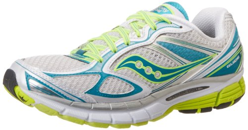 Saucony Women's Guide 7 Running Shoe,White/Teal/Citron,9.5 M