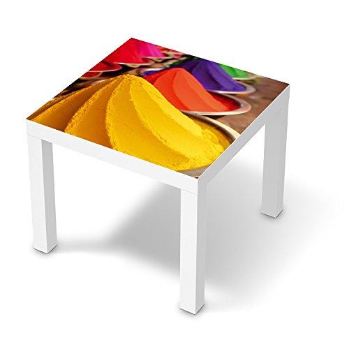 Dekorationsaufkleber-fr-IKEA-Lack-Tisch-55x55-cm-Dekorfolien-Mbel-Aufkleber-Folie-Mbel-Tattoo-Wohnung-umgestalten-Innendekoration-Design-Motiv-Colored-Powder