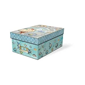 USD20 Amazon Gift Card Wedding Registry : Amazon.com: Punch Studio Seascape Decorative Photo Storage Box: Home ...