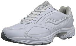 Saucony Men\'s Grid Omni Walking Shoe,White/Silver,10.5 W