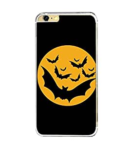 Printvisa Haunted Bats And Moon Pic Back Case Cover for Apple iPhone 6 Plus::Apple iPhone 6S Plus