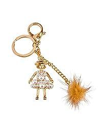 Avaron Projekt Pearled Doll Handbag Charm Key Chain / Purse Charm For Women