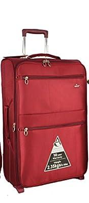 "Aerolite® Super Lightweight Expandable World lightest Suitcase Trolley Cases Bag Luggage (26"", Wine)"