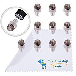 Pack of 10 Replacement Fiber Tips for The Friendly Swede Replaceable Fiber Tip Capacitive Stylus Pens Only + Cleaning Cloth