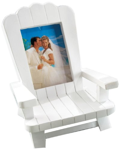 Kate Aspen Decorative Gift Beach Memories Miniature Adirondack Chair Place Card/Photo Frame Set of 4