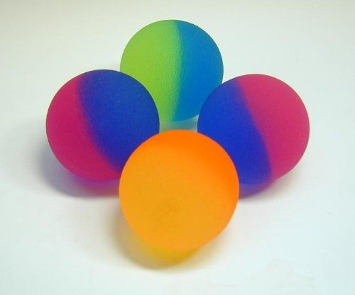Icy Two Tone Balls - - 25mm Bouncy Balls - 48 Pc