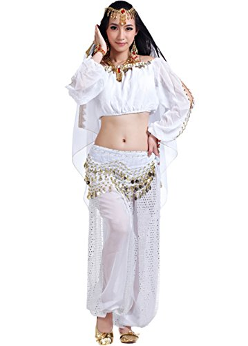 AveryDance professional belly dance Costumes 5 Pieces Set
