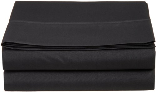Clara Clark Supreme 1800 Collection Single Flat Sheet - Queen Size, Black (Cheap Flat Sheets compare prices)