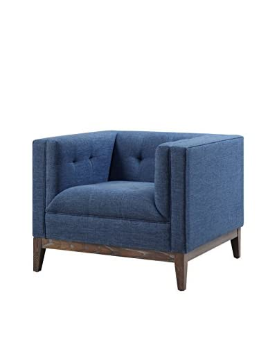 TOV Furniture Gavin Linen Chair, Blue