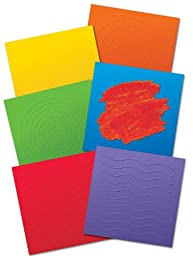 Roylco Deluxe Finger Paint Paper, 12 X 12 in, Assorted Color, Pack of 36