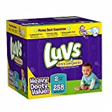41 Qksxi8zL. SL160  Luvs Luvs Ultra Leakguards Diapers, Size 2, 12 to 18 lbs 258 ct (Quantity of 1)