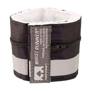 Nathan 1012Nathan 1012 Wrist Runner Bracelet / pochette réflecteur Noir / pochette réflecteur Noir