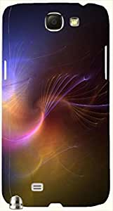 Attractive multicolor printed protective REBEL mobile back cover for Samsung Galaxy Note II N7100 D.No.N-L-16917-N2
