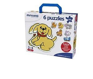 Miniland Silhouette Puzzle - 6 Animals