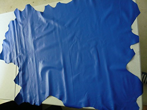 Ortu Leather - Lambskin Leather Skin Hide Electric Blue - 8 Sq.Ft