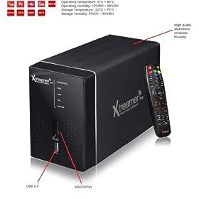 "XTREAMER PRO Media Player & Network Streamer (2 x 3.5"" Hard Drive Bays)"
