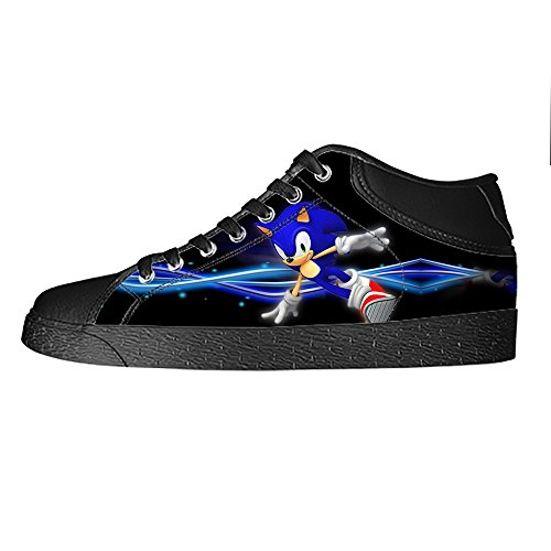 TD^^MM Custom Video games Sonic The Hedgehog Canvas Sneaker Shoes for Men (Sonic The Hedgehog Sneakers)