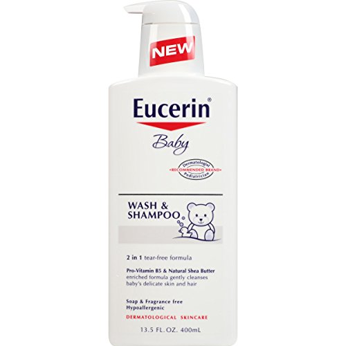 Eucerin Baby Wash and Shampoo 13.5 Fluid Ounce (Pack of 3)