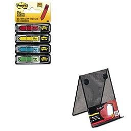 KITMMM684SHROLFG9C9500BLA - Value Kit - Rolodex Nestable Wire Mesh Freestanding Desktop Copyholder (ROLFG9C9500BLA) and Post-it Arrow Message 1/2amp;quot; Flags (MMM684SH)
