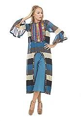 Rinku Sobti Women's Tunic (JUNA19_Blue_XX-Large)