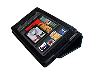 Poetic PU Leather Folio Case for Amazon Kindle Fire (Black) by Poetic