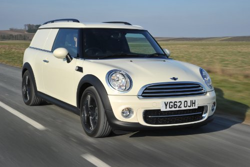 """Mini Clubman Cooper D Uk Version Car Art Poster Print On 10 Mil Archival Paper White Front Side View 20""""X15"""""""