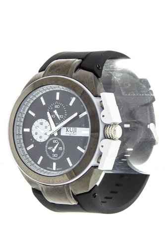 Diva & Duchess Inner Frame Accent Silicone Strap Watch (White)