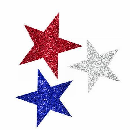 Online Stores, Inc. Patriotic Mini Cut Out Decorations Package Of 10