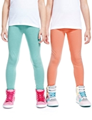 3 Pack Cotton Rich Assorted Leggings with StayNEW™