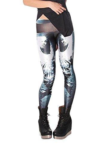 Women'S Fashion Digital Print Mr.Freeze Pattern Sexy Leggings