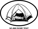 Dome Tent Oval Bumper Sticker
