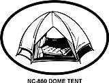 Dome Tent Oval Bumper Sticker