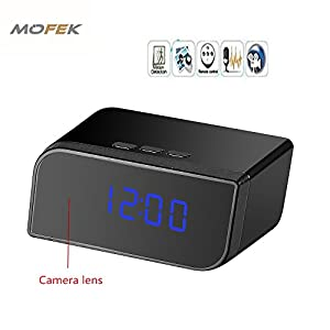 Mofek HD 1080P Hidden Camera Alarm Clock Spy Cam Motion Detection Infrared Night Vision Video Recorder + 32GB Memory Card