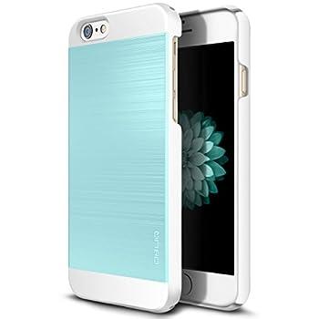 08. OBLIQ [Slim Meta II][Aqua Blue/White] Premium Slim Fit Thin Armor All-Around Shock Resistant Polycarbonate Metallic Case for Apple iPhone 6S Plus