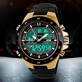 Vahno Men's Watch Sports Multi-Functional Dual Time Zones