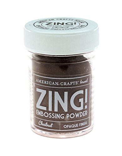 Zing opaque embossing powder 1 ounce chestnut food for American crafts zap embossing heat gun