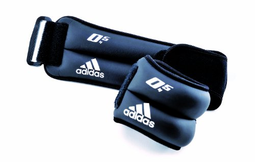 Adidas Adidas Ankle\/Wrist Weights, 1.0Kg Pair (Black)